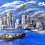 Boat to Hongkong - Acryl 50x70