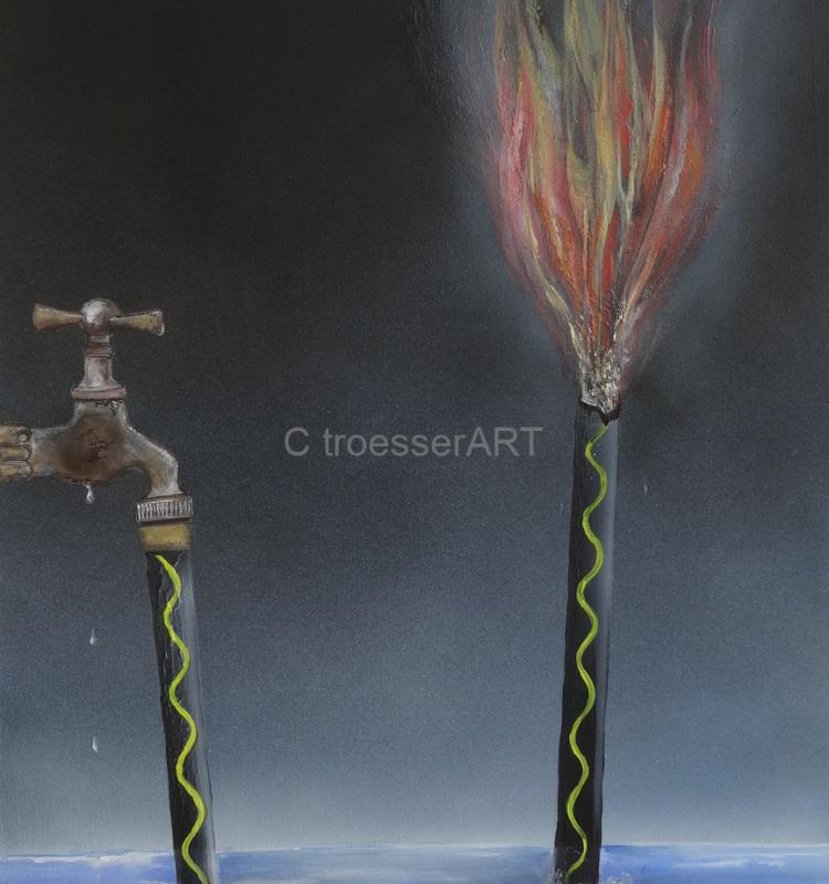 Feuerschlauch / 60cm x 90cm /2015
